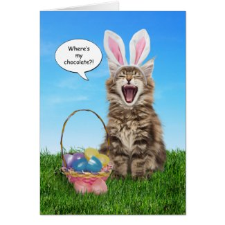 Where's My Chocolate? Easter Card