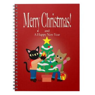 Whim and Sam's Christmas Spiral Note Books