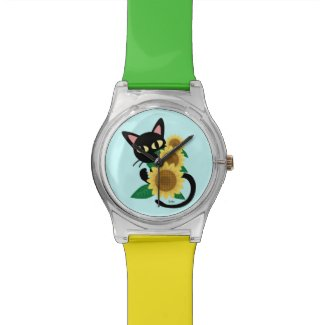 Colorful Black Cat Watches