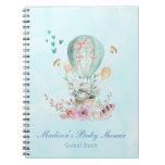 Whimsical Bunny Riding in a Hot Air Balloon Notebook