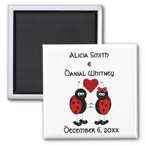 Whimsical Ladybug Save the Date Magnet
