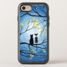 Whimsical Moon with Cats OtterBox Symmetry iPhone 7 Case