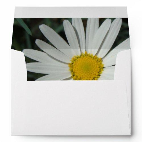 White Daisy Envelope envelope