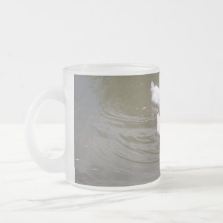 White Ducks Swimming Mug mug