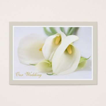 White Lillies Wedding RSVP Cards