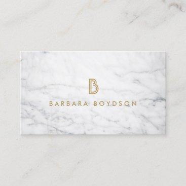 WHITE MARBLE INTERIOR DESIGNER Business Card