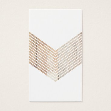 White Minimalist chevron with Wood