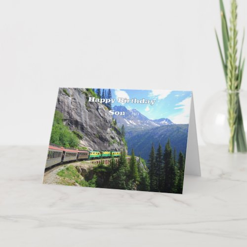 White Pass & Yukon Route Son Happy Birthday card