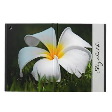 White Plumeria Frangipani Hawaii Flower Cover For iPad Air