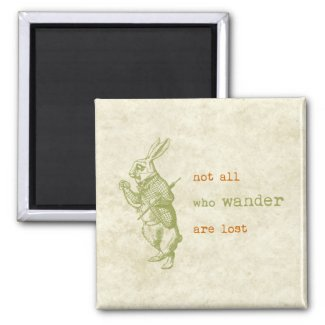 White Rabbit, Alice in Wonderland Refrigerator Magnet