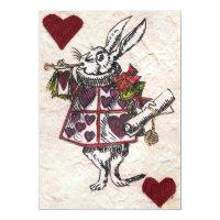 White Rabbit Wedding Invitation