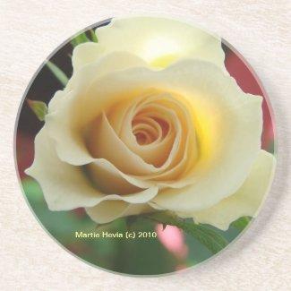 White Rose Bud - Coaster coaster