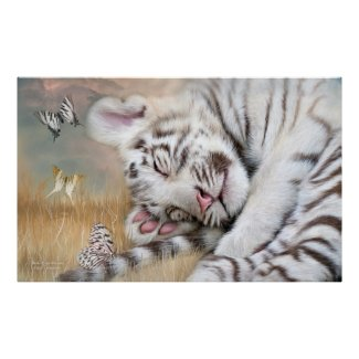 White Tiger Dreams Fine Art Poster/Print
