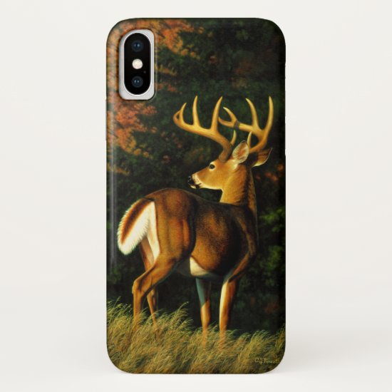 Whitetail Deer Trophy Buck Hunting iPhone XS Case