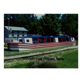 Whitewater Canal Boat Print