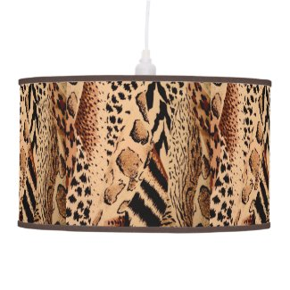 Wild Animals Pattern Ceiling Lamp