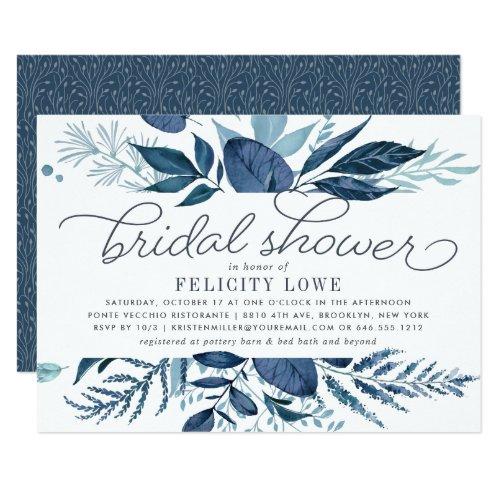 Wild Azure Bridal Shower Invitation