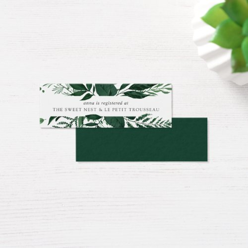Wild Forest Bridal Registry Insert Cards | Mini