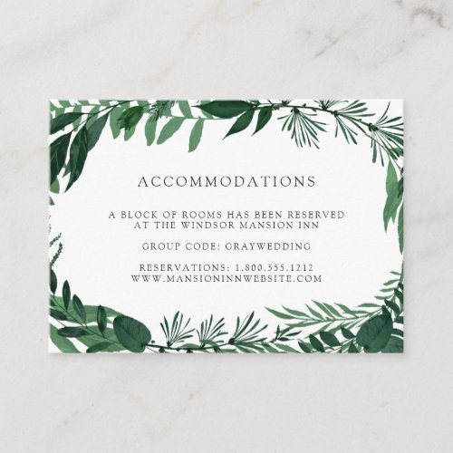 Wild Forest | Wedding Hotel Accommodation Cards