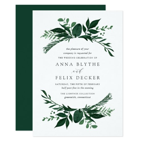 Wild Forest Wedding Invitation