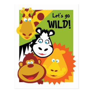 Wild Thing - Card - Birthday Invite Postcards