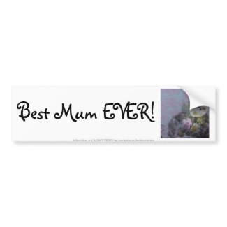 wildflower, Best Mum EVER! heart bumpersticker