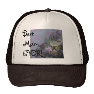 wildflower, Best Mum EVER! heart hat