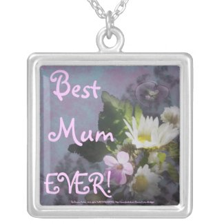 wildflower, Best Mum EVER! heart necklace