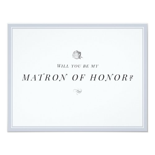 Will you be my matron of honor floral minimalist invitation