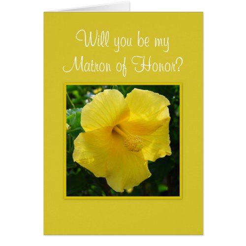 Will you be my Matron of Honor? Stationery Note Card