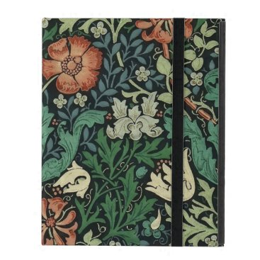 William Morris Compton Floral Art Nouveau Pattern iPad Case