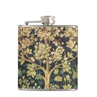 William Morris Tree Of Life Vintage Pre-Raphaelite Hip Flasks
