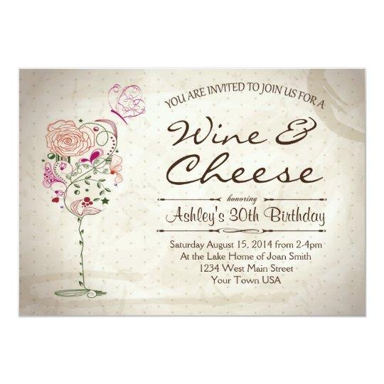 Wine Amp Cheese Birthday Invitation