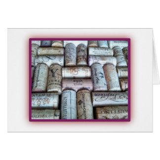 Wine Cork Tray Cards