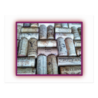 Wine Cork Tray Postcard
