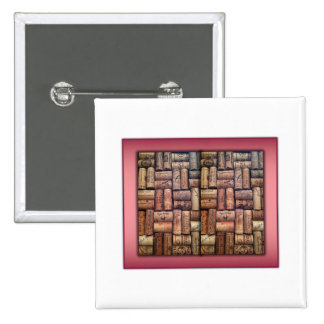 Wine Corks Collage Button