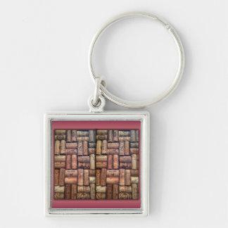 Wine Corks Collage Keychains
