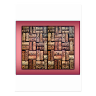 Wine Corks Collage Postcards