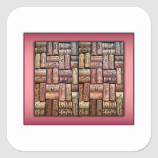 Wine Corks Collage Square Sticker