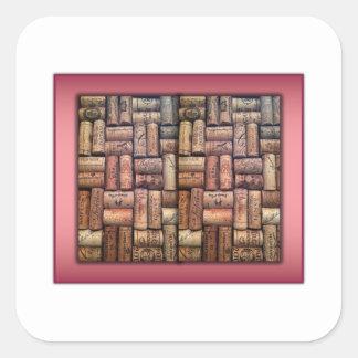 Wine Corks Collage Square Sticker