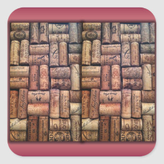 Wine Corks Collage Sticker