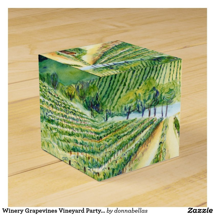 Winery Grapevines Vineyard Party Custom Gift Box