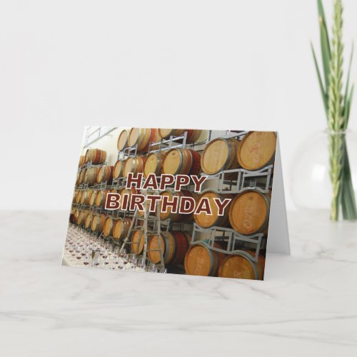 Winery Happy Birthday card