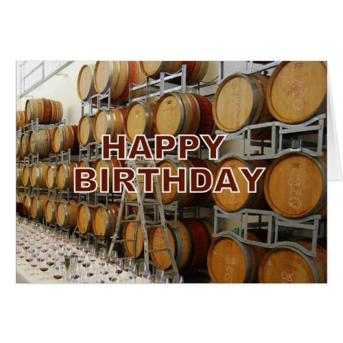 Winery Happy Birthday Greeting Card