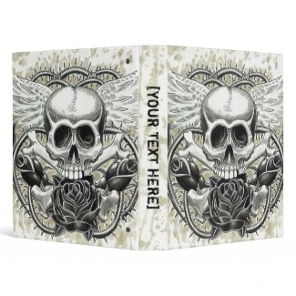 Winged Skull Binder Template binder