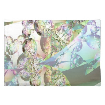 Wings of Angels – Celestite & Amethyst Crystals Place Mat