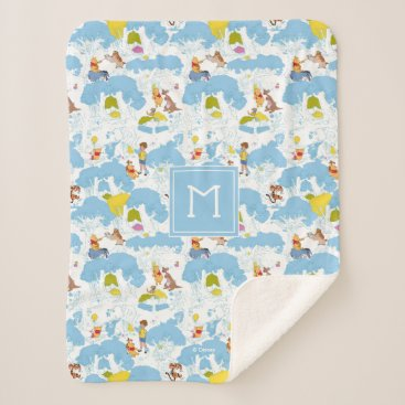Winnie the Pooh | At the Honey Tree Pattern Sherpa Blanket