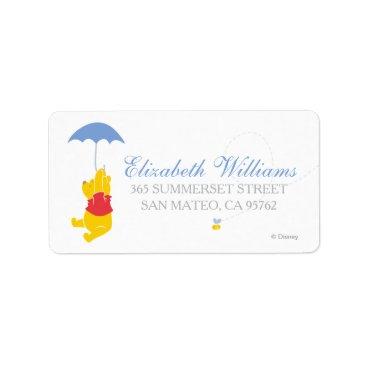 Winnie the Pooh | Boy Baby Shower Label