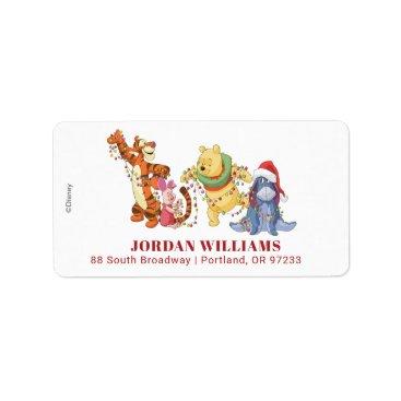 Winnie the Pooh | Christmas Lights Label
