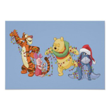 Winnie the Pooh | Christmas Lights Poster
